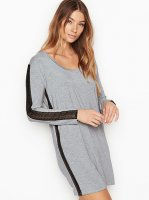 Heavenly Victoria Supersoft Modal Long-sleeve Sleepshirt Grey