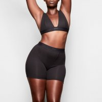 Skims Cotton Rib Boxer - Soot